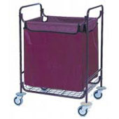 Housekeeping trolley built in sections with bag and top, steel, 550*850*950 mm.