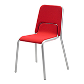Chair Burgess Duo 03/1, alum.frame, fabric upholstery, aluminium, 525*560*860 mm