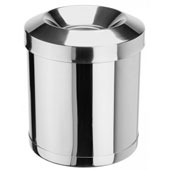 Badroom bin 30 l. in-floor, with fireproof cover, metal, chrome, 250 * 250 * 680 mm.