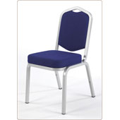 Chair Burgess Turini 18/10, aluminum frame, seat and backrest fabric upholstery, aluminum, 420*580*860 mm