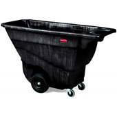 "Tilt truck RUBBERMAID FG9T1400BLA,  ""steering wheel"" handle and extra handle at the bottom for dumping, up to 385 kg., polyethylene, black, 683*1457*8"