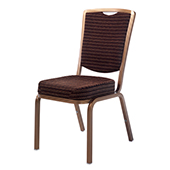 Chair Burgess Siena 62/3E, alum.frame, back with support, fabric upholstery, aluminum,450*630*930 mm