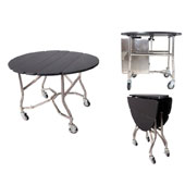 Room service trolley, 5 drawers, laminate, black, 1090*915*750 mm.