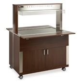 Buffet complements ROCAM ATHENA 3 PC heated  with digital thermostat, upper sneezeguard, plexiglass countertop, lighting with neon lamp, laminated chi