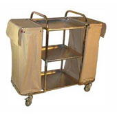 Housekeeping trolley with 3 shelfs, with 2 bags, curtain, stainless steel, 550*1030*1100 mm.
