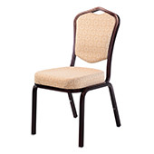 Chair Burgess Siena 62/1E, alum.frame, back with support, fabric upholstery, aluminum 450*630*920 mm