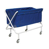 Housekeeping trolley, steel tubing structure, bag, steel, polymer cover, 600*1000*950 mm.
