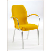 Chair Burgess Orvia Аrmchair, aluminum rim, upholstery can be chosen from a wide range of fabrics, lumber support, armrests, aluminum