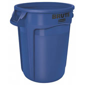 Container RUBBERMAID BRUTE FG263200BLUE, round, of 121 l, polyethylene, blue, 559*559*692 mm.