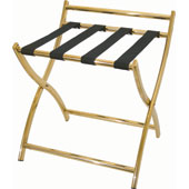 Luggage rack, foldable with back, metal, gold, 500 * 480 * 540 mm.