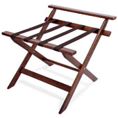 Luggage rack, foldable with backrest, wood, walnut, 600 * 590 * 520 mm.