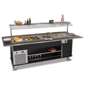 Buffet complements ROCAM EROS MIX 6/1 static refrigeration and heating with digital thermostat, mobile upper sneezeguard, entirely made of stainless s