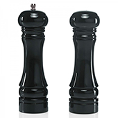 Pepper mill, ceramic grinding mechanism, wooden, black, 130 mm.