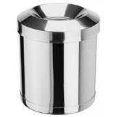 Badroom bin 12 l. in-floor, with fireproof cover, metal, chrome, 250 * 250 * 300 mm.