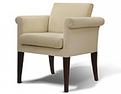 Arm chair, hard wood frame, upholstery as agreed, 680*830*660 mm.