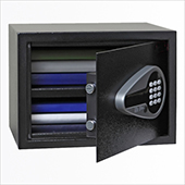Safe, electronic locking mechanism, key, screen, audit, steel, 350*250*250 mm.