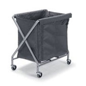 Housekeeping trolley, steel tubing structure, foldable, bag, bag platform, steel, polymer cover, 670*660*1030 mm.