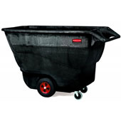"Tilt truck RUBBERMAID FG9T1500BLA,  ""steering wheel"" handle and extra handle at the bottom , up to 570 kg., polyethylene, black, 851*1797*1073 mm."