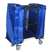 Housekeeping trolley with 3 shelfs, with 2 linen bags, steel, 550*1030*1100 mm.