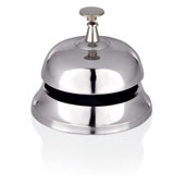 Reception bell, aluminium, chrome, d 95 mm.