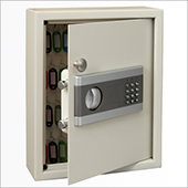 Keybox, electric and key locking mechanism, steel, 300*365*100 mm.