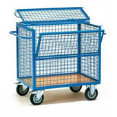 Housekeeping trolley, steel tubing structure with opening front and rear sides, steel, polymer cover, 550*800*1000 mm.