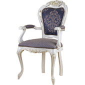 Arm chair, upholstery of seat and back rest from fabric of 2 category, hard beech, 500*440*1020 mm.