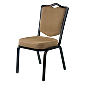 Chair Burgess Siena 62/4E, alum.frame, back with support, fabric upholstery, aluminum, 450*630*900 mm