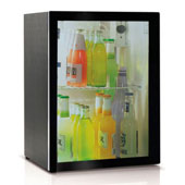 Minibar/mini-refrigerator with compressor VITRIFRIGO C39 PV 39l., glass door, black, 390*415*544 mm.