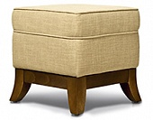 Ottoman, hard wood frame, upholstery as agreed, 400*400*400 mm.