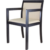 Arm chair, upholstery of seat and back rest from fabric of 2 category, hard beech, 500*430*845 mm.