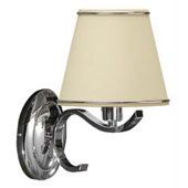 "Lamp stationary wall, cotton fabric No. 02, electroplating ""chrome"", lamp E14 40W, 140 * 260 * 260 mm."