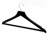 Aslotel hook wishbone trouser bar coathanger matt black wood