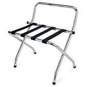 Luggage rack, foldable with back, metal, chrome, 620 * 490 * 700 mm.