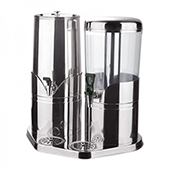 Cooling beverage dispenser, 2 containers, stainless steel, 500*340*520 mm.