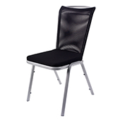 Chair Burgess VIO 04/1,  alum.frame, fabric upholstery, aluminium, 460*600*870 mm