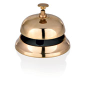 Reception bell, brass, gold, d 95 mm.