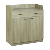 Waiter station ROCAM PERSEO B/2, 2 drawers with inner dividers, 2 doors, drawer, castors, laminated chipboard, 945*470*1031 mm.