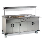 Buffet ROCAM EROS 5 BM IN heated  by mechanical thermostat , upper sneezeguard, 2 folding tray-holders, entirely made of stainless steel, doors, light
