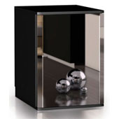 Minibar/mini-refrigerator with compressor VITRIFRIGO C420 V NEXT DM 40l., mirror door, black, 390*485*540 mm.