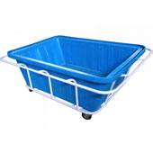 Housekeeping trolley, tank 600l. from plastic, steel, polymer coloring, 1830*1360*690 mm.