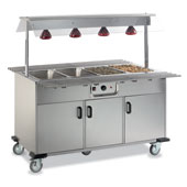 Buffet ROCAM EROS 3 B/INFRA IN heated , upper sneezeguard, upper infrared lamps, doors, 2 folding tray-holders, stainless steel, 1159*709*1494