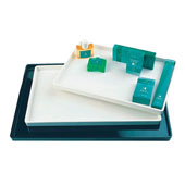 Cosmetic tray, plastic, white, 395*280*24 mm.