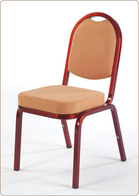 Chair Burgess Turini 18/9, aluminum frame, seat and backrest fabric upholstery, aluminum , 420*580*880 mm