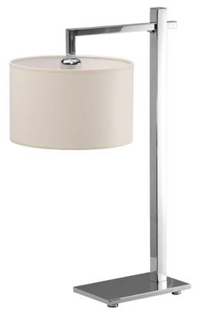 Lamp portable table, cotton fabric No. 02, stainless steel, mirror surface, lamp E27 60W, 380 * 380 * 595 mm.