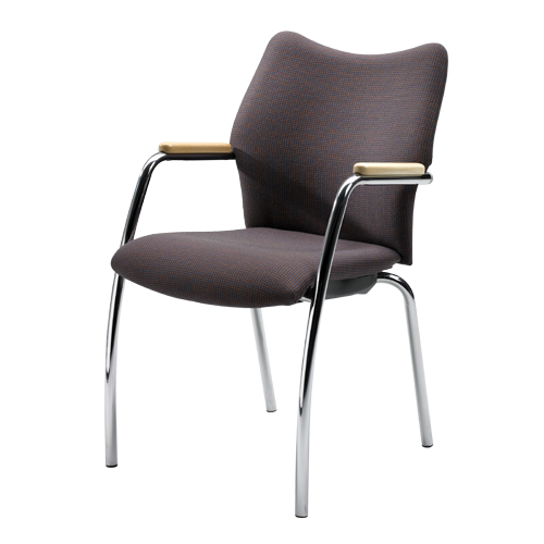Chair Burgess Forum 37/10А, steel frame, padded seat and low back, steel 550*610*890 mm